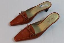 1ee7306311e women s new Unisa orange leather upper bow low summer slip on Heels size 7.5
