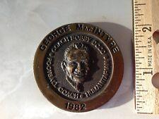 1982 Football Coach Of The Year Humanitarian Medal George MacIntyre (Vanderbilt)