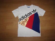 Adidas Originals White, Red, Blue & Gold mens T-shirt size S