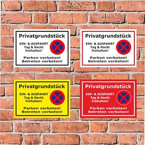 Schild - Privatgrundstück - Parken und Betreten verboten - in 4 Größen - S00020L