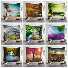 Forest Scenery Wall Hanging Yoga Mat Tapestry Hippie Bedspread Beach Towel New