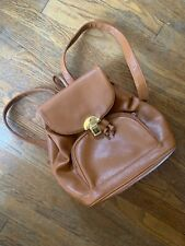 Vintage Capezio Leather Backpack Purse Carry All Camel Tan Brown Great Conditik