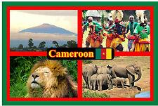 CAMEROON, WEST AFRICA - SOUVENIR NOVELTY FRIDGE MAGNET - SIGHTS NEW / GIFT