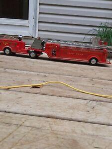 Vintage Marx Toys Hook And Ladder VFD used READ