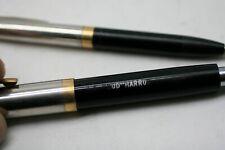 Vintage Black Sheaffer DOT Fountain Pen Set With 14K  Nib USA E1