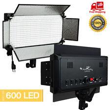 600 LED Light Panel Kit Photography Video Studio Lighting Dimmer Mount Photo