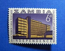 1964 ZAMBIA 6d SCOTT # 2 S.G # 92 UNUSED                                 CS23175