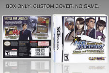 PHOENIX WRIGHT TRIALS AND TRIBULATIONS. DS. COVER + ORIGINAL BOX. (NO GAME)
