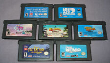 GBA LOT: 7 Kid's Games - Ice Age, Pooh, Madagascar, Nemo, My Little Pony, & More