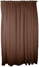 chocolat marron voile TENTURE RIDEAU TRINGLE Poche 150x183cm 150x183cm