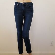 AG Adriano Goldschmied 25R The Prima Mid Rise Cigarette Dark Wash Skinny Jeans