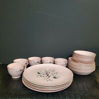 Taylor Smith Taylor 19pc Pink Dwarf Pine Dinner Dessert Bread Tea Cup Plate Set