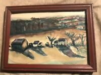 """Helena Krause Beacham """"Landscape"""" Watercolor Painting - Signed And Framed"""