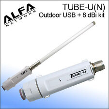 Alfa Tube-U(N) 802.11n Outdoor Wi-Fi USB booster + 8 dBi antenna Marine Boating