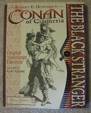 Conan of Cimmeria: The Black Stranger (Original Manuscript Facsimile), Signed