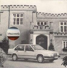 Volvo 940 Wentworth Limited Edition 1992 UK Market Sales Brochure Saloon Estate