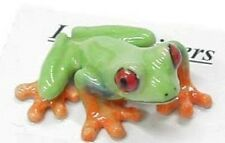 little Critterz Porcelain Miniature Red-Eyed Frog-LC301 (Buy 5 get 6th free!)