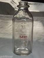 VINTAGE DAIRY 1961 HARRISBURG DAIRIES PA 1 QUART CHOCOLATE MILK BOTTLE