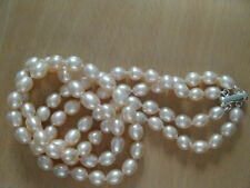AAA Double Strand Pink Freshwater Cultured Pearl Necklace - nk64
