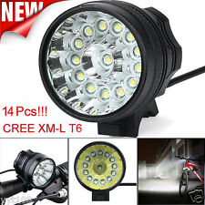 34000 LM 14x CREE T6 LED 3 Modes Headlight Glare Mountain Bike Riding Equipment
