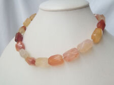 12*18mm faceted nugget Carnelian necklace USA RUSSIAN BY EUB