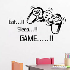Eat Sleep Game Vinyl Window & Wall Stickers for Boys Bedroom Home Decoration New