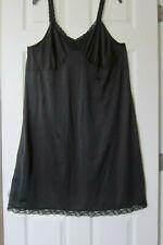 Vtg 70s Cabernet Nylon Full Slip Elastic Lace Straps 46
