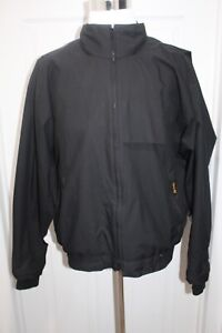 Zero Restriction Golf Outerwear Gore-Tex Black Full Zip Jacket Men's Size Large