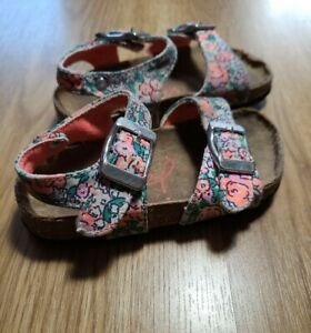 Joules Baby Girls Sandals UK infant size 4  floral buckle strap