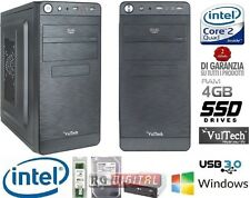 PC DESKTOP INTEL QUAD CORE 4GB RAM HD SSD 120GB HDMI PC COMPLETO DVI/VGA USB 3.0
