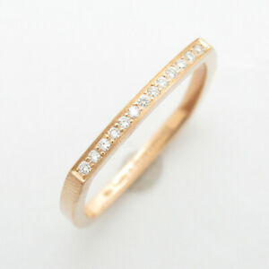 TIFFANY&CO Torque ring bague anello #9 K18 750 Yellow Gold Used