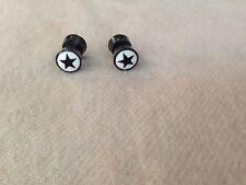Pair Star Light Horn-Fake Horn Plugs Gauges,Handmade,Cheaters,Organic,Split