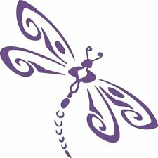 Purple Dragonfly 321 - Die Cut Vinyl Window Decal/Sticker for Car/Truck