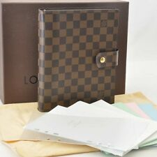 Authentic  Louis Vuitton Damier Agenda GM Day Planner Cover R20009 #S4214