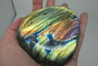 Labradorite Crystal AA Grade pink purple yellow blue Flashes healing  polished