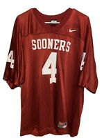 Nike Team Oklahoma Sooners #4 NCAA Football Jersey Men's Size Medium M