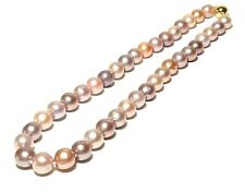 """Fabulous 10-11mm Natural Purple Rainbow Edison Cultured RoundPearl 18"""" Necklace"""