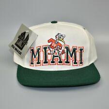 Miami Hurricanes NCAA Vintage 90's Nu Image Adjustable Snapback Cap Hat - NWT