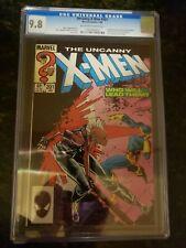 UNCANNY X-MEN #201 CGC 9.8 OFF/WHITE PAGES CASE PERFECT! CABLE!