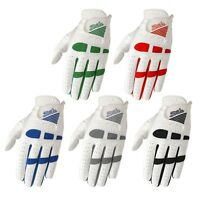 Pack of 5 Men golf gloves Cabretta leather palm and patch Multi colors S - XXL