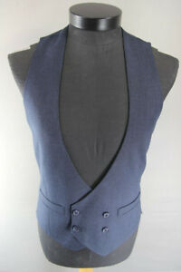 BRAND NEW GARETH SOUTHGATE ENGLAND STYLE BLUE DOUBLE-BREASTED WAISTCOAT 38-44 IN