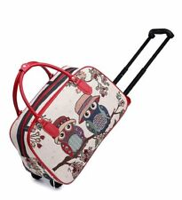 Ladies Girls New Cute Owls Hand Luggage Travel Weekend Bag Cabin Holdall Disney