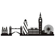 Wall sticker LONDON SKYLINE adesivo parete muro paesaggio Londra Big Ben Bridge