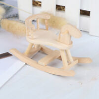1/12 Dollhouse Miniature Wooden Rocking Horse Chair Nursery Room Furnit kl