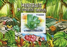Sao Tome & Principe 2015 MNH Minerals Tropical Forest 1v S/S Emerald
