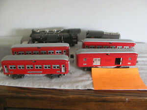 Lionel 255E Vintage Steam Engine Tender and 4 Cars