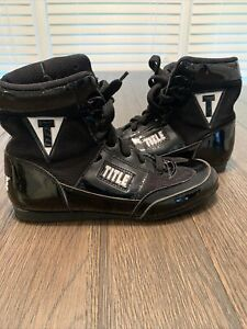 Title Boxing Mid-Length Men's Boxing Shoes Black Men's Size 6 Unisex