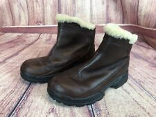 UGG Australia Womens 8 / 39  Brown Leather Zip Winter Ankle Boots 5385  j59