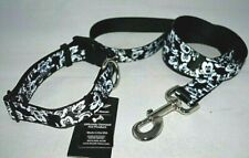 Buckle-Down Plastic Clip Collar & Leash Mickey Mouse Expressions Black/White NEW