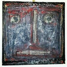 "Terry Turrell Outside Artist Portrait  Signed 1993 Encaustic on Wood 24""x24"""